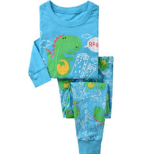 Childrens Aircraft Print Pajamas Baby Cartoon Pijamas Kids Animal Clothing Set Boy's Girls Nightwear Sleepwear Kids Pajama