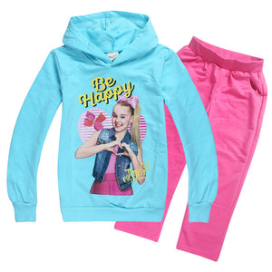 JOJO siwa Sports suit  girl autumn childrens sweatshirts clothing toddler sportswear Underwear Long-sleeved T-shirt Trousers