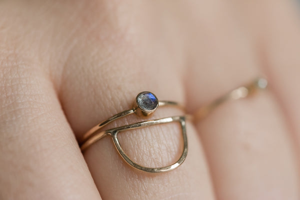 Tiny Labradorite Ring