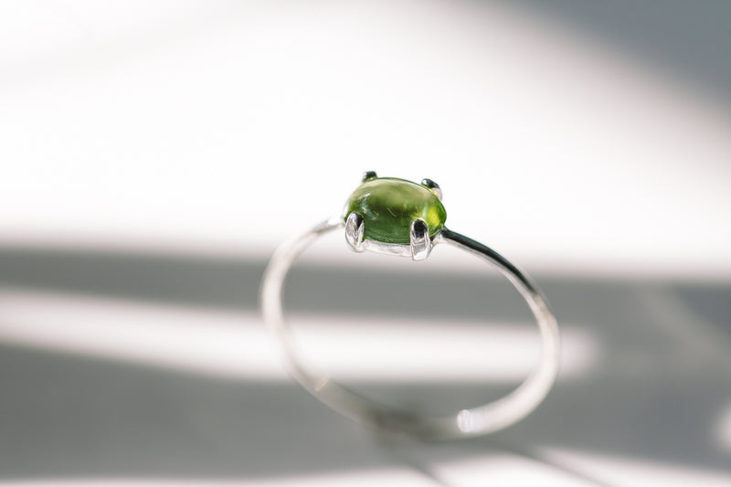 Oval Peridot Ring
