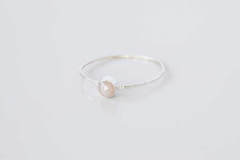 Peach Moonstone Ring