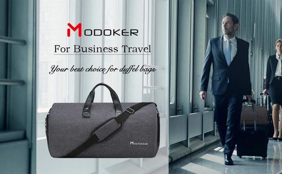 Modoker Carry On Garment Bag--No Wrinkles Trouble Your Dress or Suits Any More.