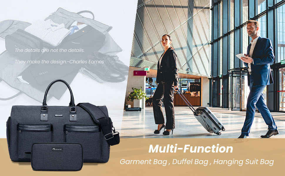 Navy carry on business & travel duffel bag
