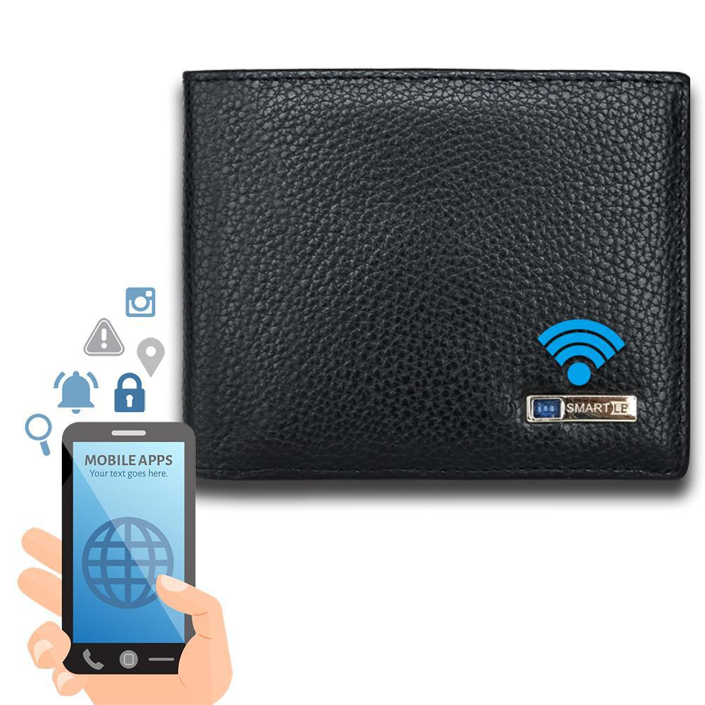 Modoker Smart Tracking Wallet, Anti lost Leather Bifold Wallet