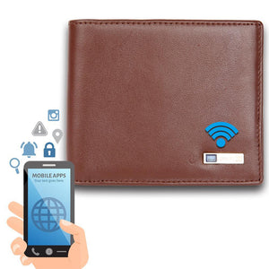 Modoker Smart Tracking Wallet, Anti lost Leather Bifold Wallet-Wallet-Modoker-Soft Brown-Modoker