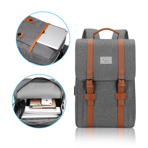 Modoker Vintage Laptop Backpack for Women Men-Backpack-Modoker-Modoker