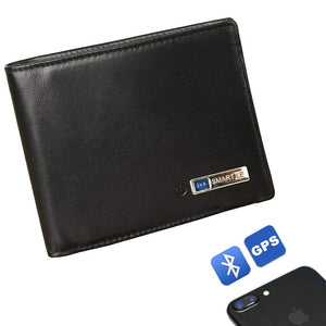 Modoker Smart Tracking Wallet, Anti lost Leather Bifold Wallet-Wallet-Modoker-soft black-Modoker