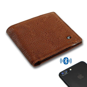 Modoker Smart Tracking Wallet, Anti lost Leather Bifold Wallet-Wallet-Modoker-Lichi Brown-Modoker