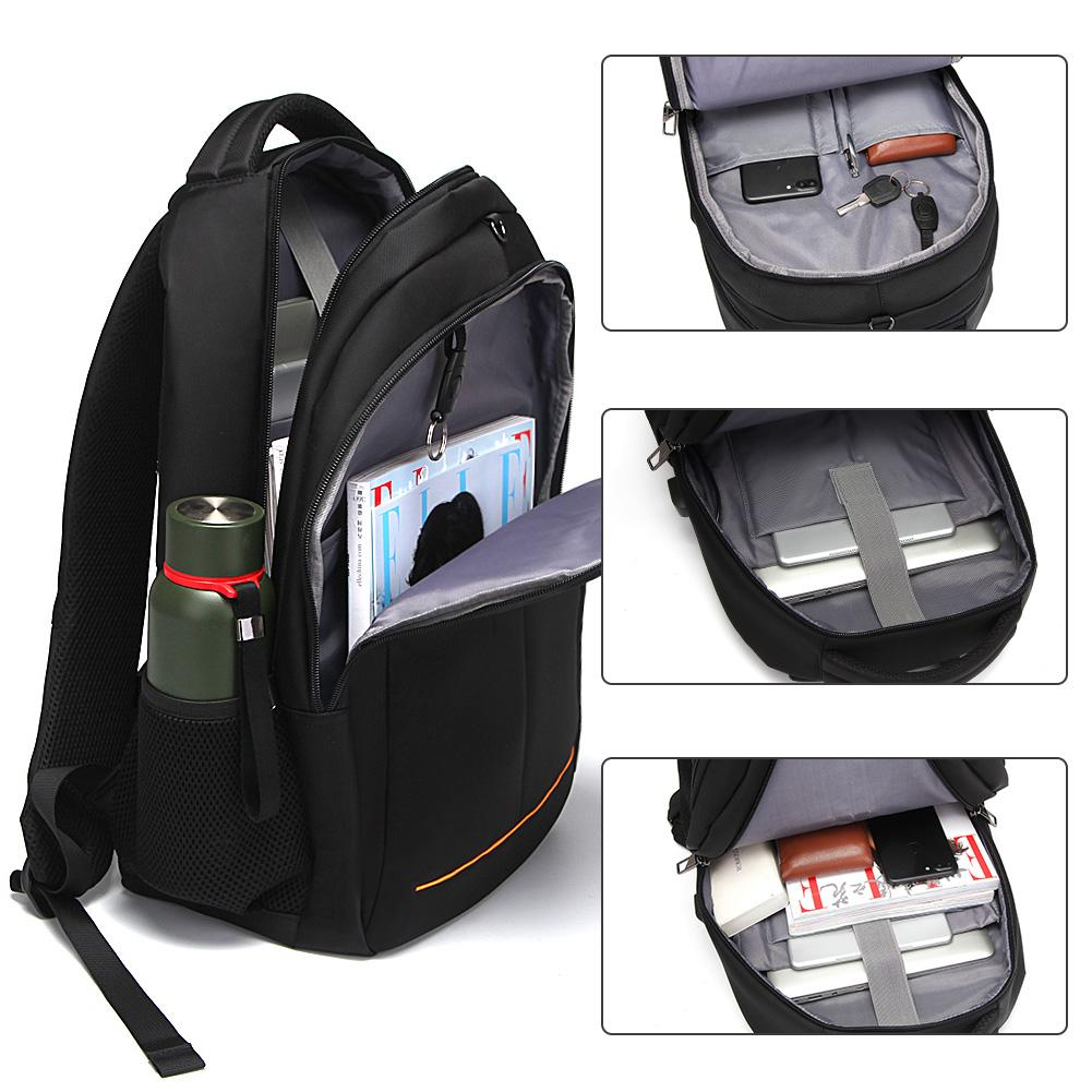 Anti-theft Travel Backpack Fit 15'' Laptop Black - Modoker