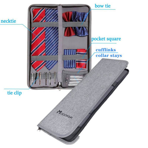 Modoker Tie Case for Travel Organizer Bag Suit Accessories - Modoker