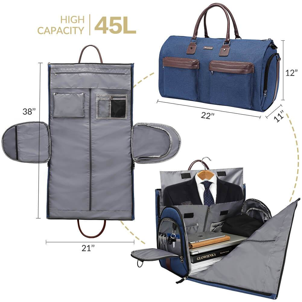 Navy carry on business & travel duffel bag - Modoker