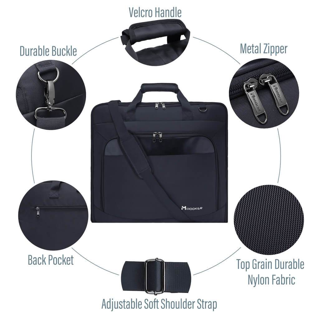 Square Business Garment Travel Bag 2 in 1 Handing Luggage - Modoker