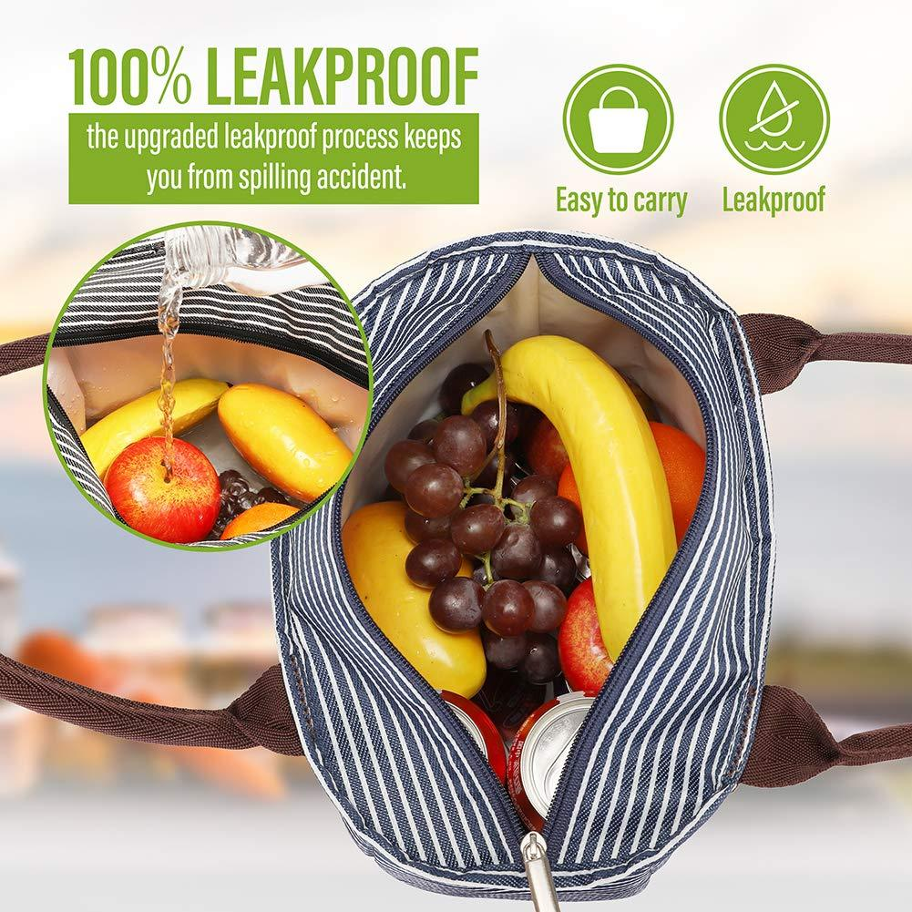Striped Lunch Bag with Leakproof&Waterproof - Modoker