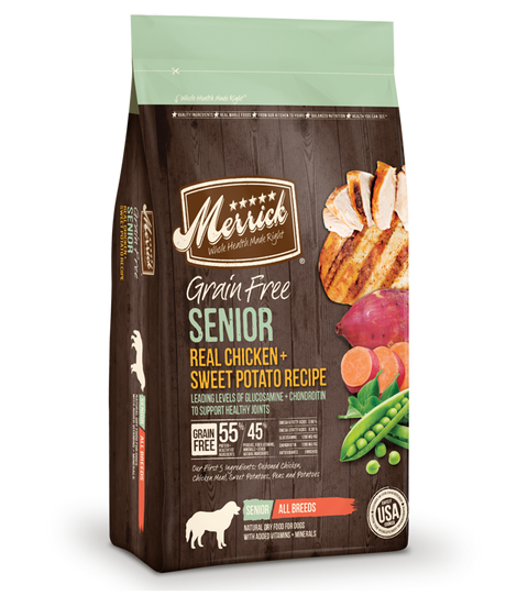 Merrick Grain Free Senior Real Chicken and Sweet Potato - Kibble