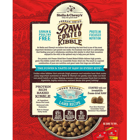 Stella & Chewy's Grass-Fed Lamb Raw Coated Kibble - Kibble