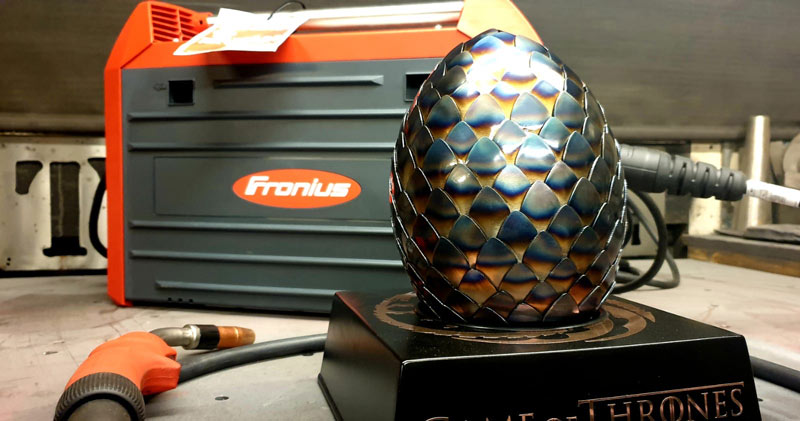 Dragons egg by TM Designs using a Fronius Transteel 2200