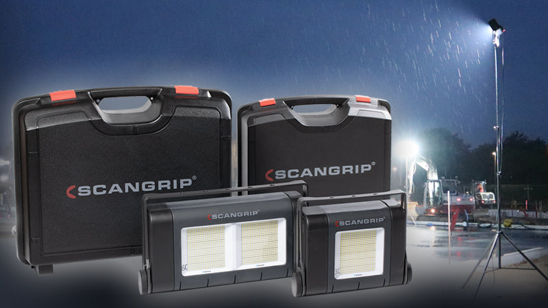 Scangrip New Site Lights In a Sturdy Case