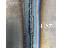 Example of a HAZ in a MIG Weld