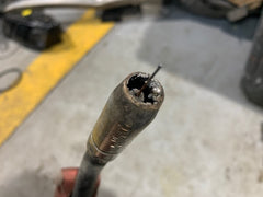 Bad MIG Nozzle full of spatter