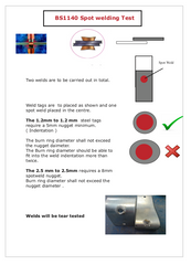 BS 1140 Spot weld peel test Information