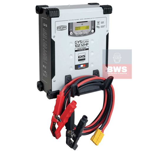GYSFLASH 102.12 HF is a 100A high power Connected charger and BSU with inverter technology.