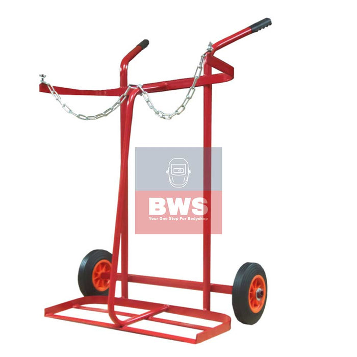 Gas Welding Oxygen + Acetylene gas Trolley-1267