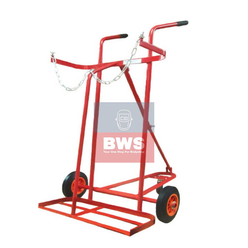 "Gas Welding Oxygen + Acetylene Trolley Large with 16"" Pneumatic wheels.-1274"
