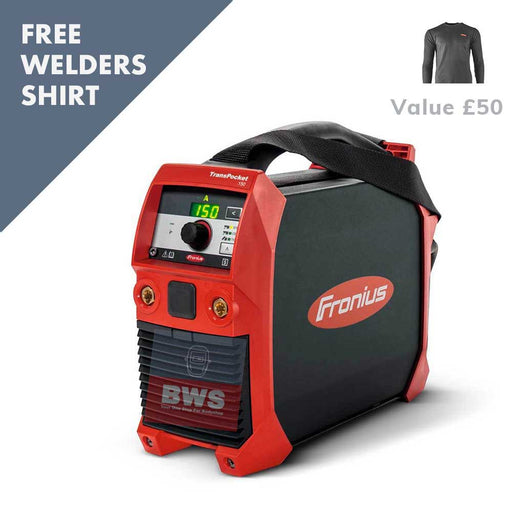 FRONIUS TRANSPOCKET 150 DC TIG MMA with free welders t shirt SKU 4,075,210