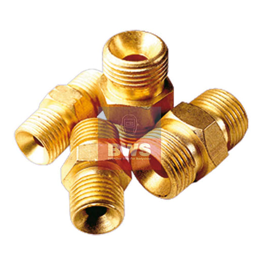 Gas Hose Coupler 1/4 to 1/4 BSP Male LH SKU 0315066