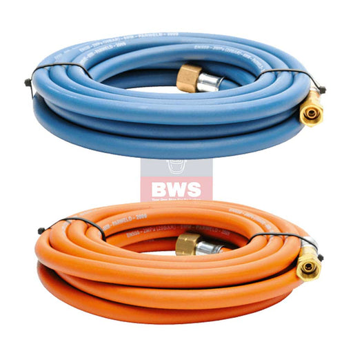 Oxygen / Propane Hose Set 10mm 3/8 10m Connector SKU 764110-PROP