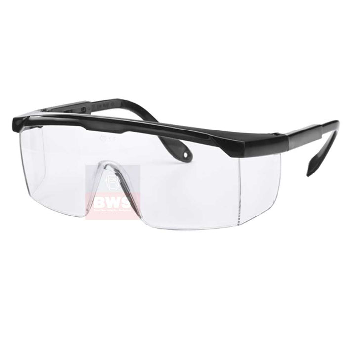 BLACK FRAMED CLEAR SAFETY SPECTACLE SKU P3420