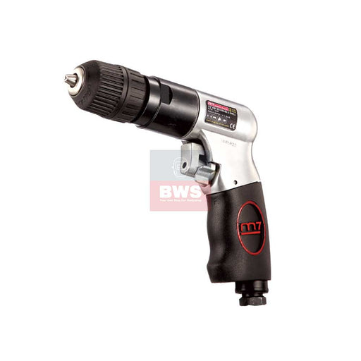 "MIGHTY SEVEN PNEUMATIC AIR TOOLS 3/8"" AIR REVERSIBLE DILL / WITH KEYLESS CHUCK - SKU QE-331"