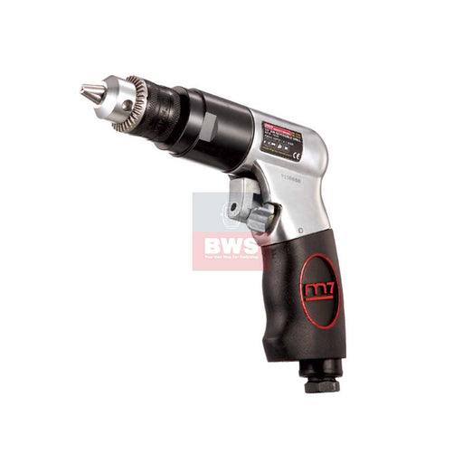 "MIGHTY SEVEN PNEUMATIC AIR TOOLS 3/8"" AIR REVERSIBLE DILL / WITH KEY CHUCK - SKU QE-333"