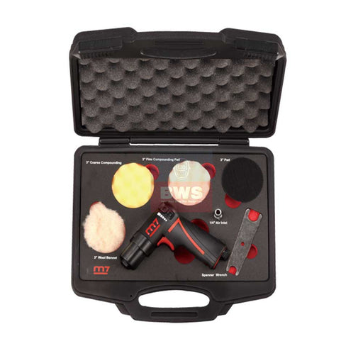 MIGHTY SEVEN AIR TOOLS MINI POLISHER SET IN PLASTIC CASE- SKU QP-223