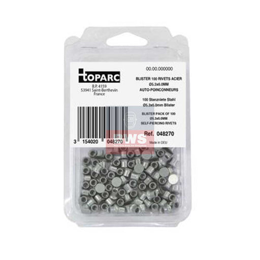 GYS BLISTER PACK OF SPR RIVETS STEEL / ACIER Ø5.3X6.0MM - SKU 048270