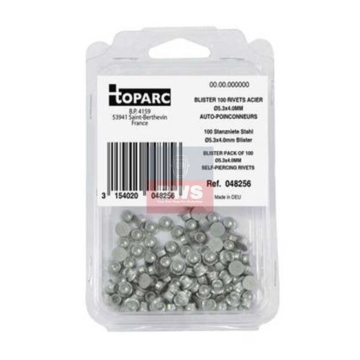 BLISTER PACK OF SPR RIVETS STEEL / ACIER Ø5.3X4.0MM - SKU 048256