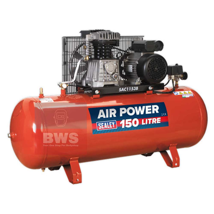 SEALEY COMPRESSOR 3HP 150L 230V SAC 1153B