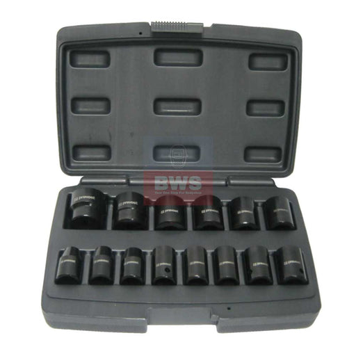 "PREVOST BOX OF 14 SOCKETS FOR 1/2"" SQUARE IMPACT WRENCHES - SKU TIW 12S12"