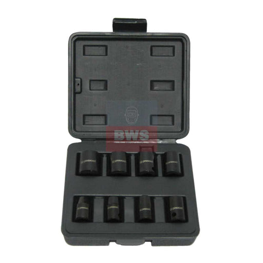 "PREVOST BOX OF 8 SOCKETS FOR 3/8"" SQUARE IMPACT WRENCHES - SKU TIW 8S38"