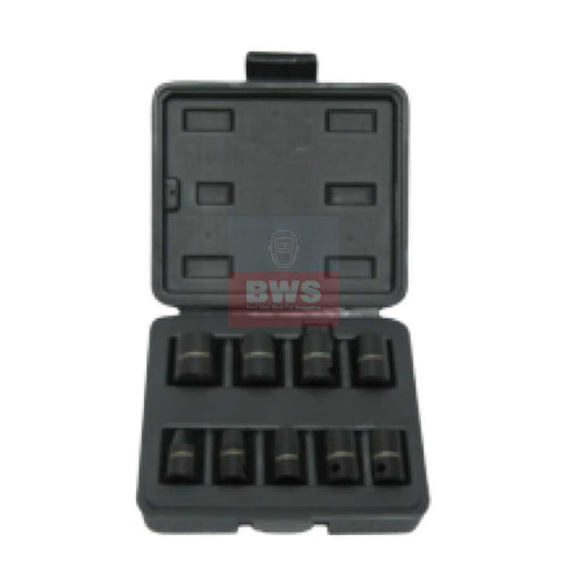 "PREVOST BOX OF 9 SOCKETS FOR 1/4"" SQUARE IMPACT WRENCHES - SKU TIW 9S14"