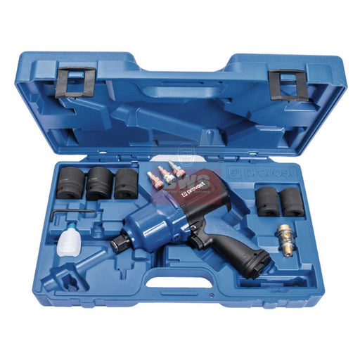 "PREVOST 3/4"" DRIVE COMPOSITE AIR IMPACT WRENCH-REINFORCED TWIN HAMMER IN CASE - SKU TIW-C341630K"