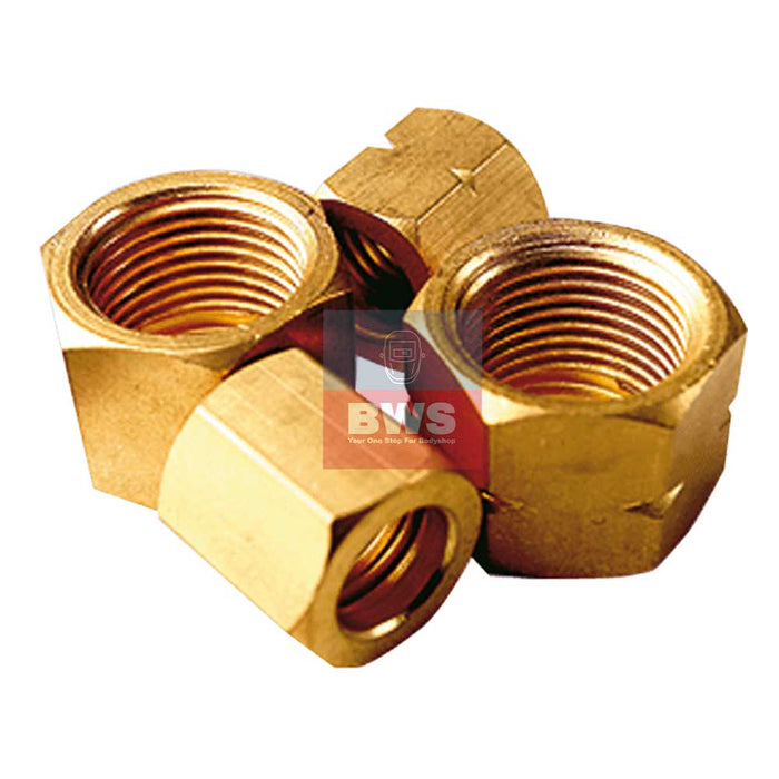 GAS HOSE TAIL NUT 1/4  BSP LH SKU 030016