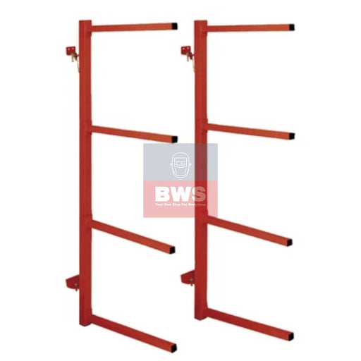 Wall Mounting Folding Bumper Rack. Suitable for holding up to three bumpers of various lengths for tidy workshop storage SKU 059832