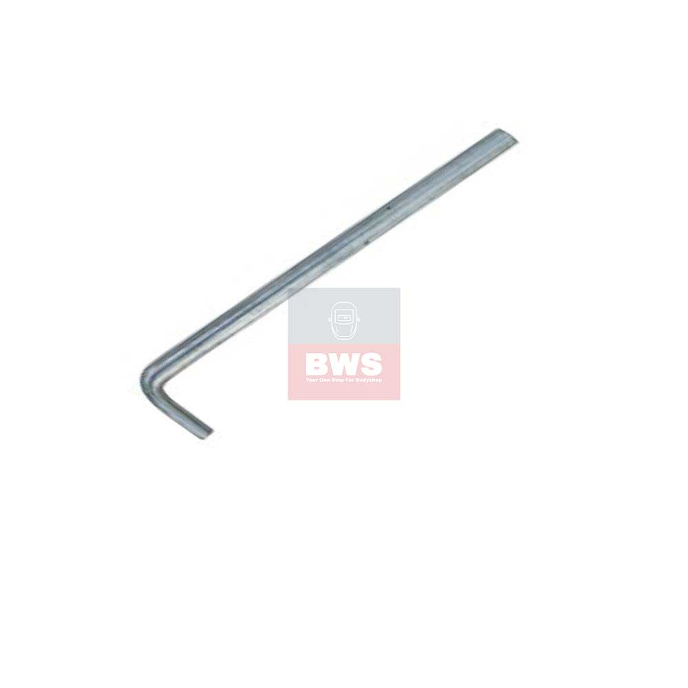 Stainless steel dent pulling Pull Bar/ Rod 210 mm Used with pull tabs and claws to pull long dents in vehicle panels SKU 484244
