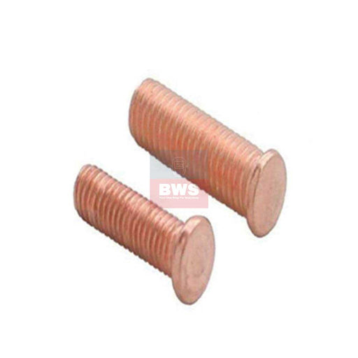 Steel Weld-On Threaded Rivet M4 15mm Long for dent pullers SKU SKU 802301 / SKU 802303