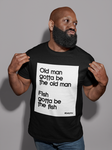 man wearing Be You shirt