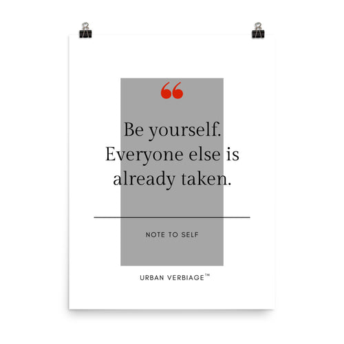 Be Yourself - Poster