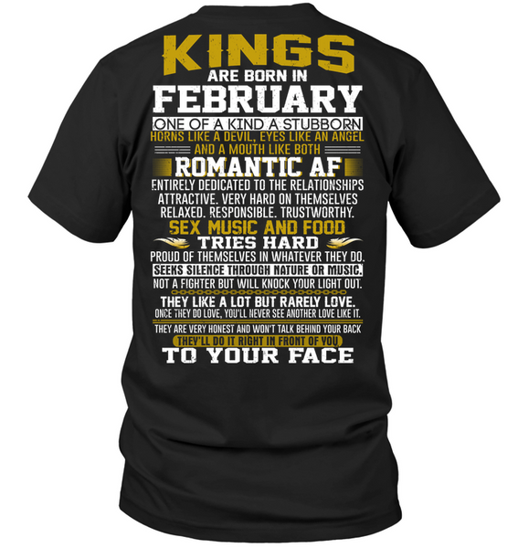 KING BORN IN FEBRUARY