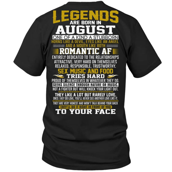 Legend Guy August - Hanes Tagless Tee / Black / S - Apparel