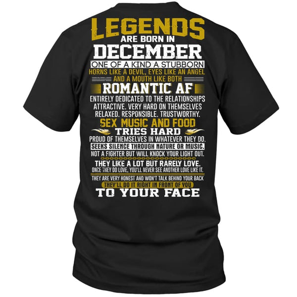 Legend Guy December - Hanes Tagless Tee / Black / S - Apparel